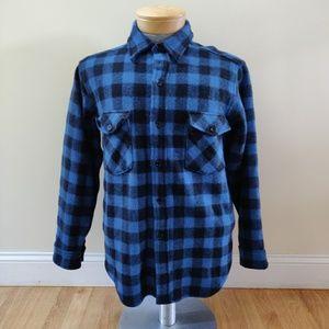 LL Bean Wool Flannel Shirt Buffalo Lumberjack VTG